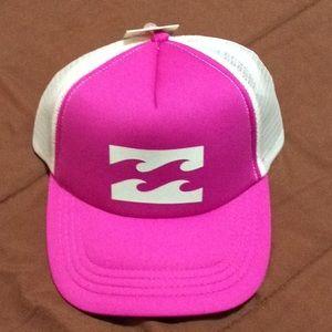 Pink & white Billabong trucker hat NIB!